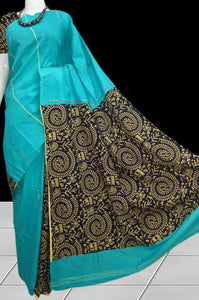 Handwoven Mulmul Cotton Handloom Khesh Saree