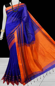 Beautiful Soft Cotton Silk With Velvet Border Saree