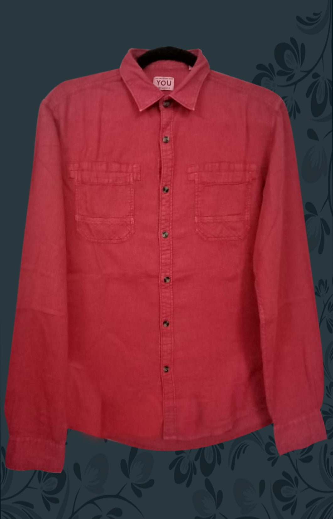 CARMINE RED MEN SHIRT