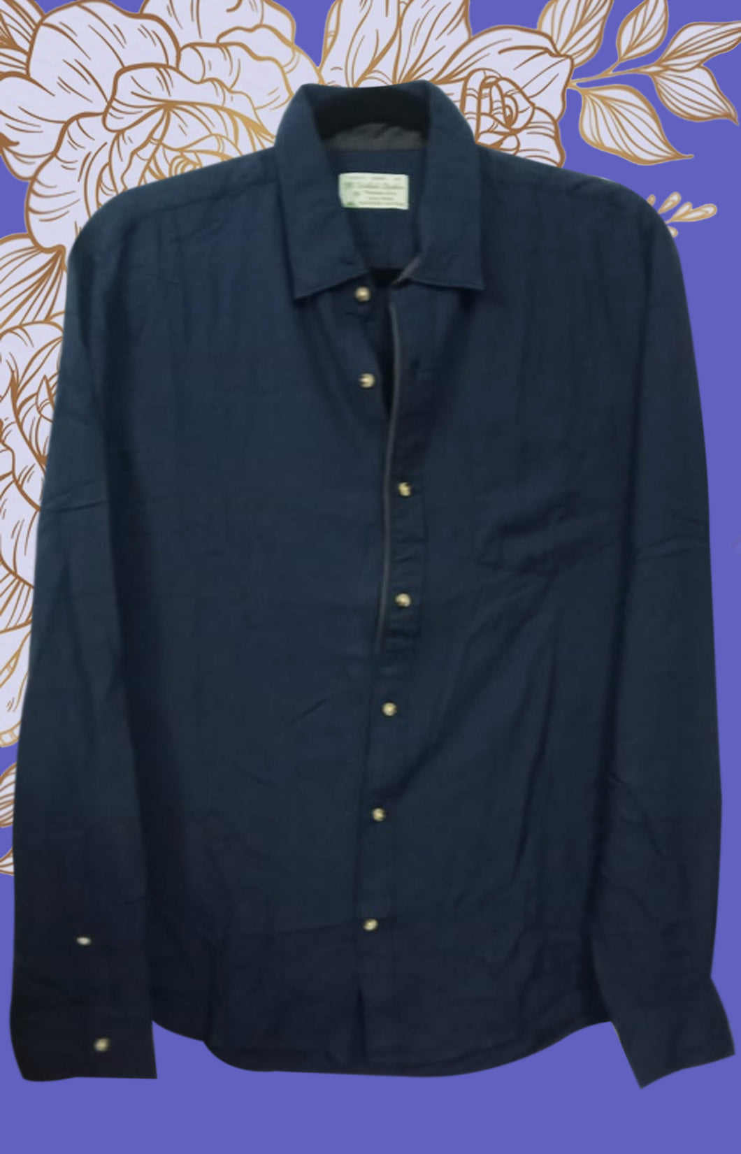 DARK DENIM BLUE MEN SHIRT