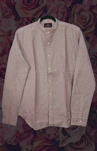 Pink Grey Color Men International Cotton shirt