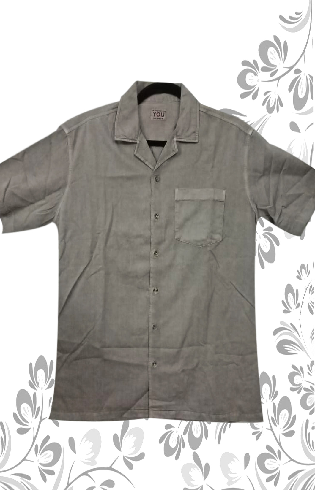 GREY COLOR MEN SHIRT