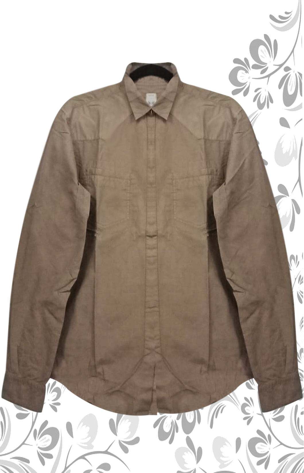 DARK BROWN  COLOR MEN INTERNATIONAL COTTON SHIRT