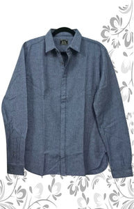 MEN BLUE INTERNATIONAL COTTON SHIRT