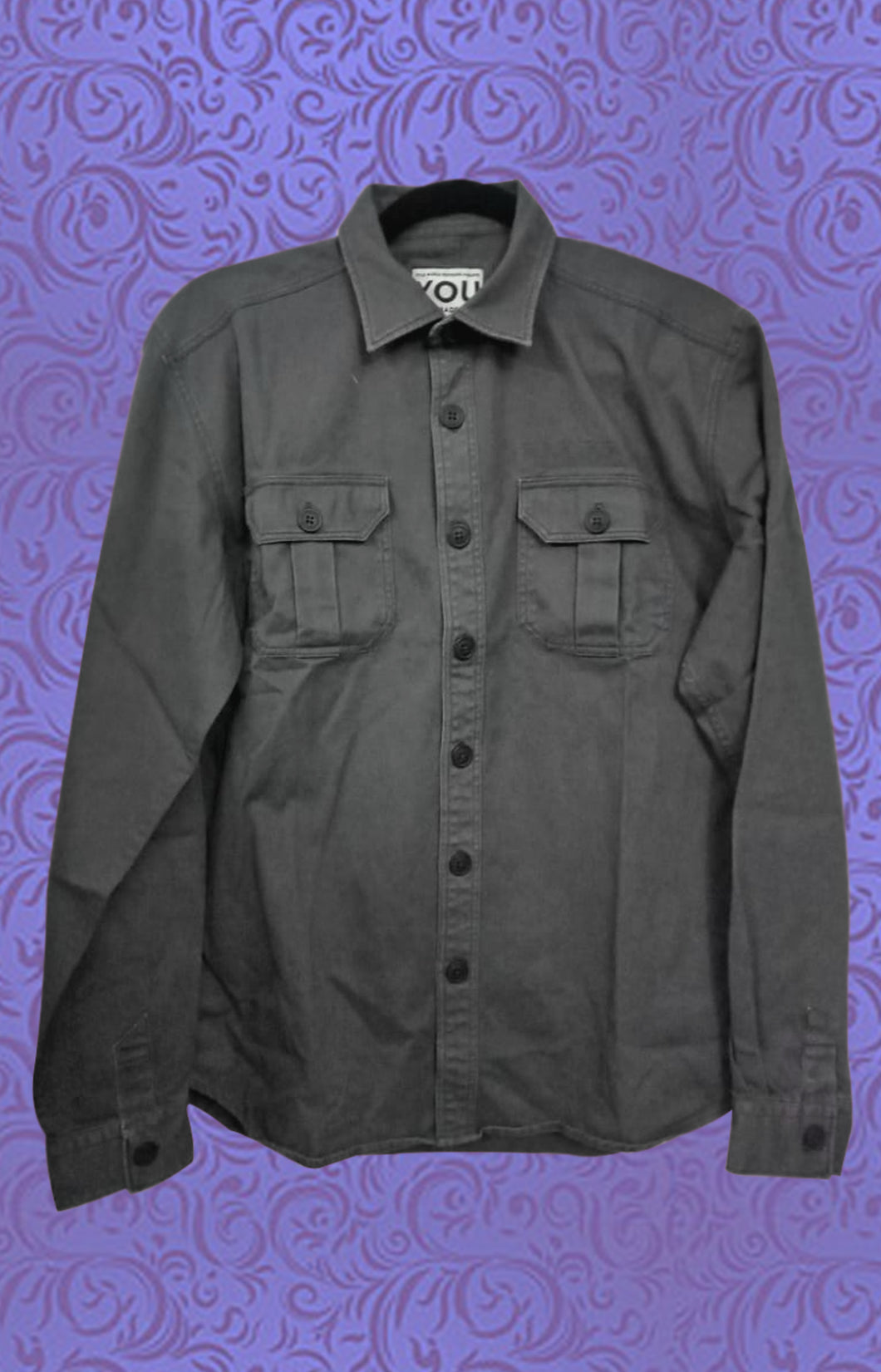 MEN BLACK DENIM SHIRT
