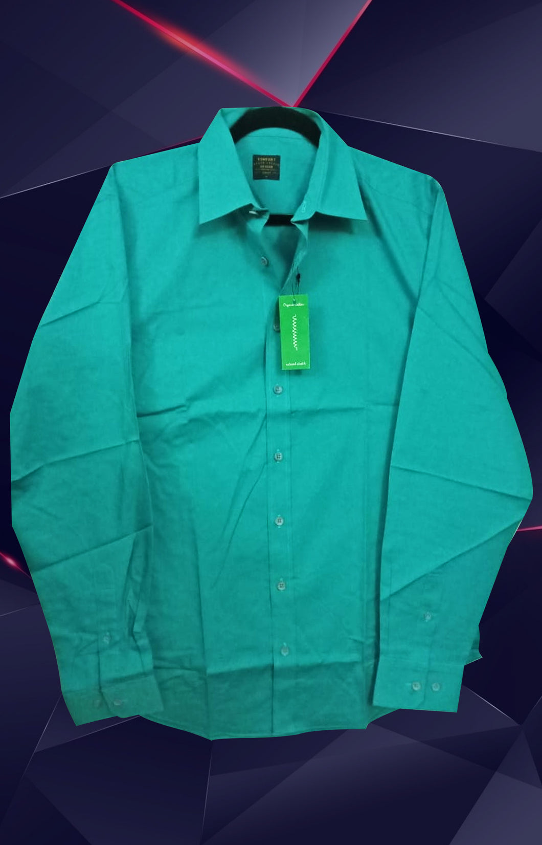 LIGHT GREEN COTTON SHIRT