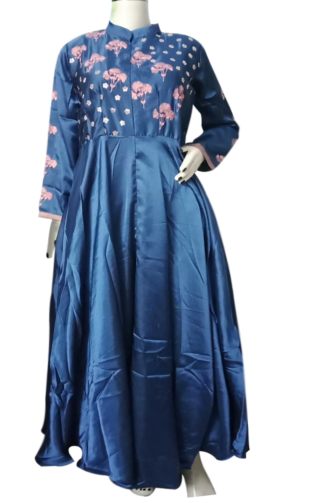 State blue long ankle-length Kurti