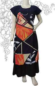 Dark navy blue and navy blue combination of this kurti