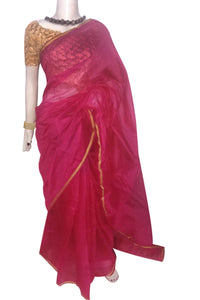 Beautiful Chanderi cotton silk saree