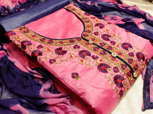 Pink kashmiri work suits