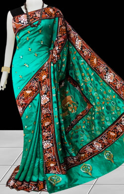 Green Color Art Silk Saree