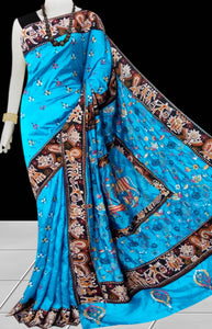 Sky Blue Color Art Silk Saree