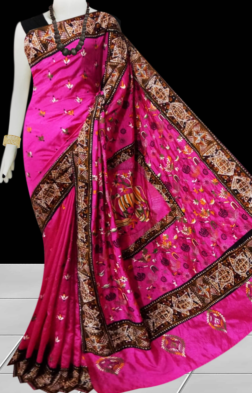 Pink Color Art silk Saree