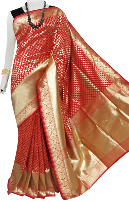 Bursana Maroon color Opara Silk saree