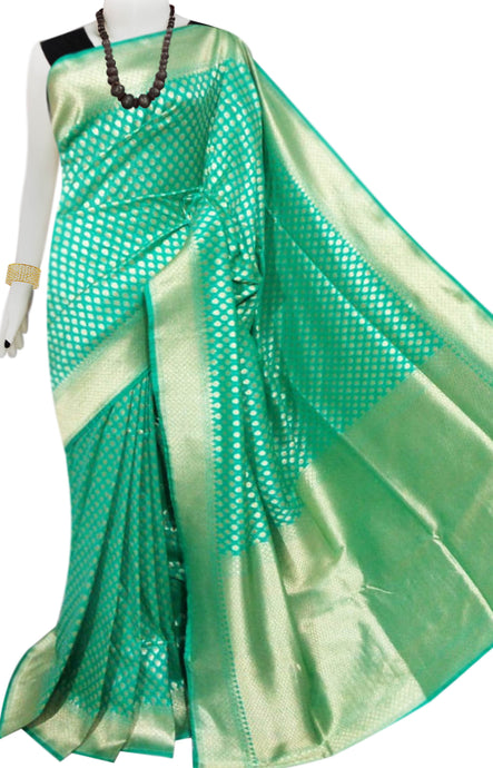 Bursana Green color Opara Silk saree