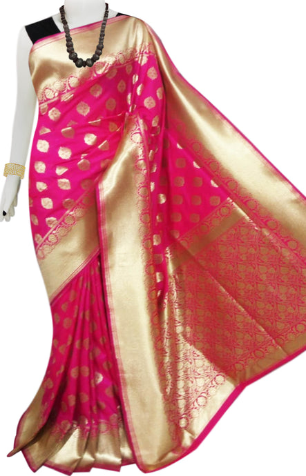 Bursana Pink color Opara Silk saree