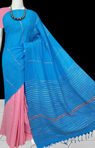 Mulmul cotton handloom khesh saree in lovely color combination
