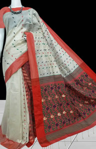Soft royal dhakai Jamdani saree