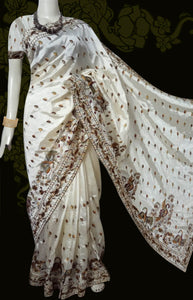 White art silk sarees