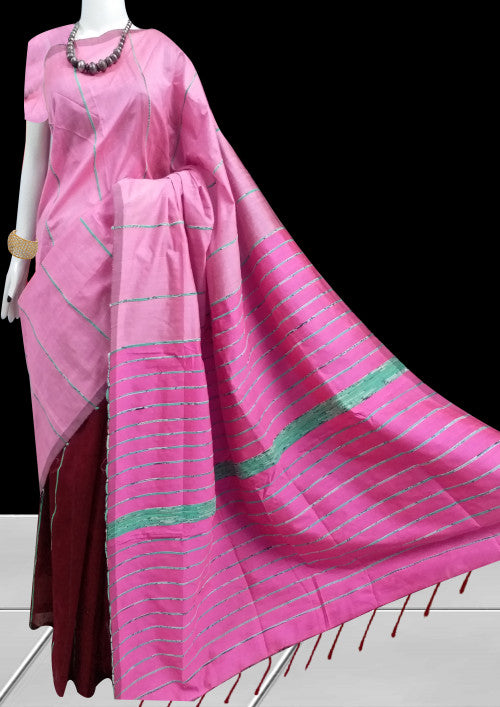 Semi Tussar Silk Khesh Saree