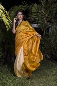 2d double tone shade sonamukhi silk saree