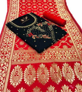 Chanderi Cotton With Khatali Hand Work