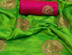 Green Base Sana Silk Saree