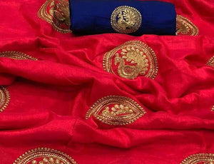 Red Base Sana Silk Saree