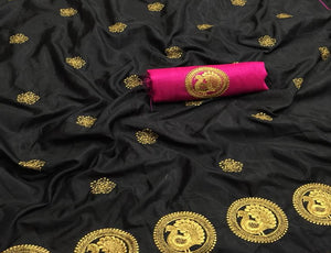 Black Base Sana Silk Saree