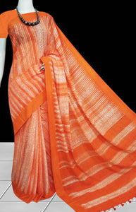 Mercerised cotton base shibori handmade saree