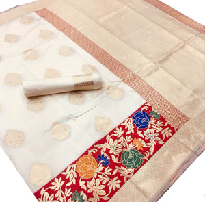 Cream base Kalawati Silk