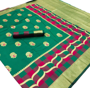 Green base Kalawati Silk