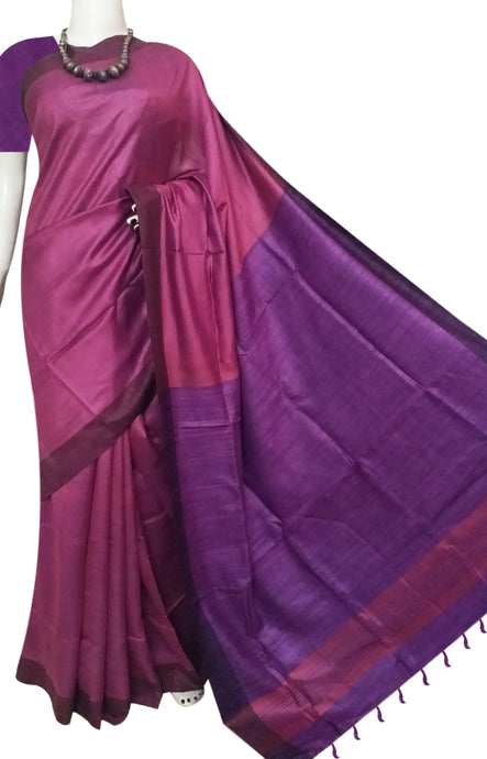 Bursana's Tone Shade Staple Silk Saree
