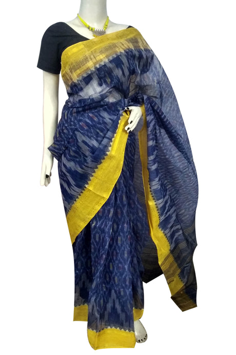 Beautiful Traditional blue Cotton Tant Saree