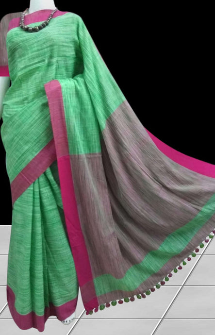 Mercerised cotton handloom saree