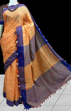 Elegant mercerized cotton sarees
