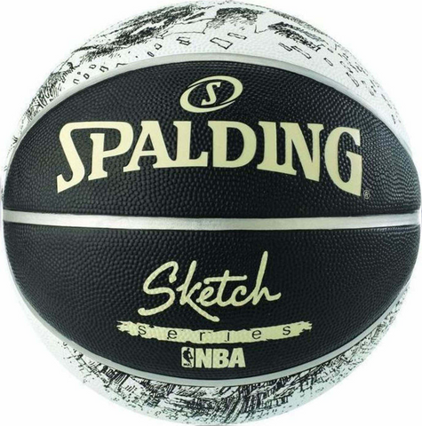 SPALDING SKETCH SERIES BLACK/WHITE ΜΠΑΛΑ ΜΠΑΣΚΕΤ  Νο 7