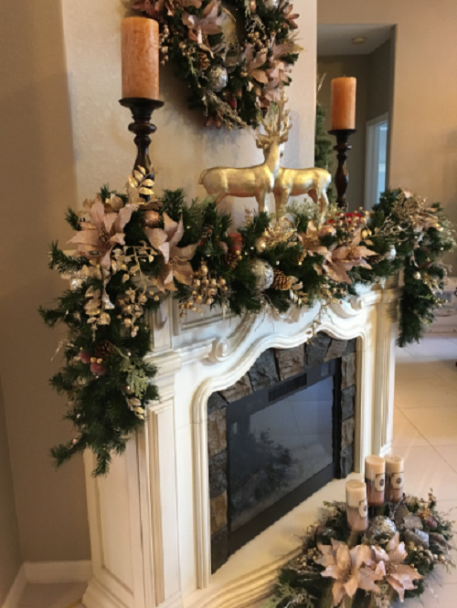 Set Of 3 Pcs Perfect Christmas Decor Stunning Icy Pink Decor Christmas Wreath Garland Centerpiece Artificial Pre Lit W Timer