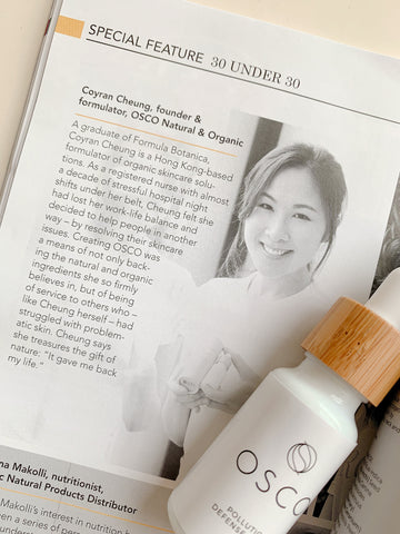 30 under 30, thirty under 30, natural products news, 30 under 30 2019, coyran cheung, antipollution skincare, natural skincare, osconatural, 傑出人士, 本地品牌