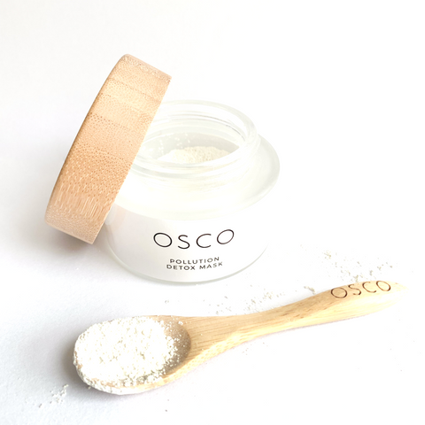 osconatural, osco skincare, antipollution, clay mask, detox mask, pollution mask, kaolin clay, deep clean mask