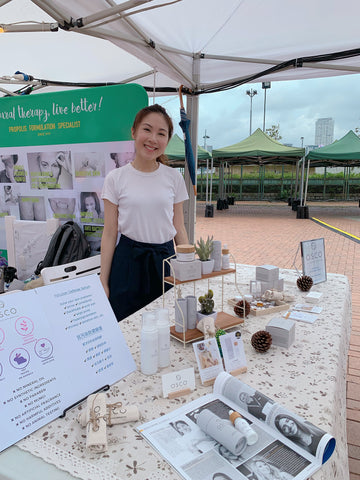 coyran cheung, arch festival, handmade market, osconatural, made in HK, handmade skincare, weekend market, central harbourfront, hong kong market