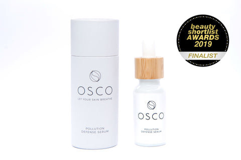 beauty shortlist awards 2019, antipollution skincare, osconatural, pollution defense serum, coyran cheung