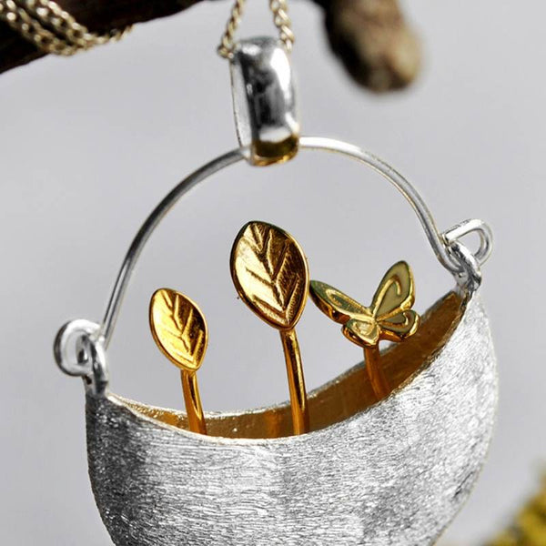 Baby Plant Silver pendant