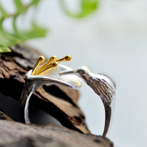 Hummingbrid Silver Ring