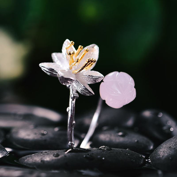 Lotus flower Sterling Silver Ring