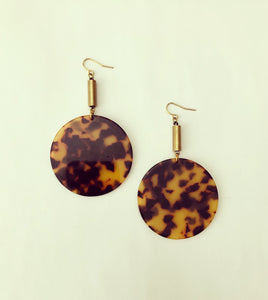 The Flümme Earrings -Tortoise Shell