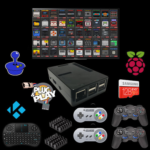 Image of Raspberry Pi 3 Console Emulation Kit PC 16.000 Games