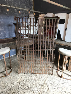A lockable iron wine cage with 300 bottle capacity