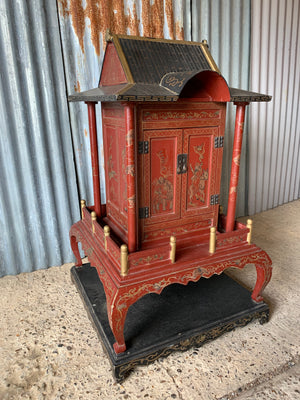 A large Chinese temple or shrine cabinet