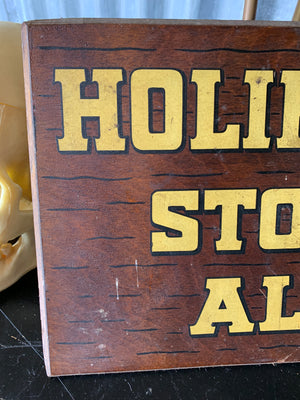 A Holihan Stock Ale trading sign
